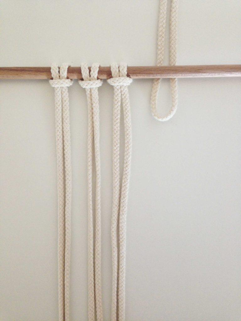 un indispensable du macramé : le nœud plat! – tramé macramé